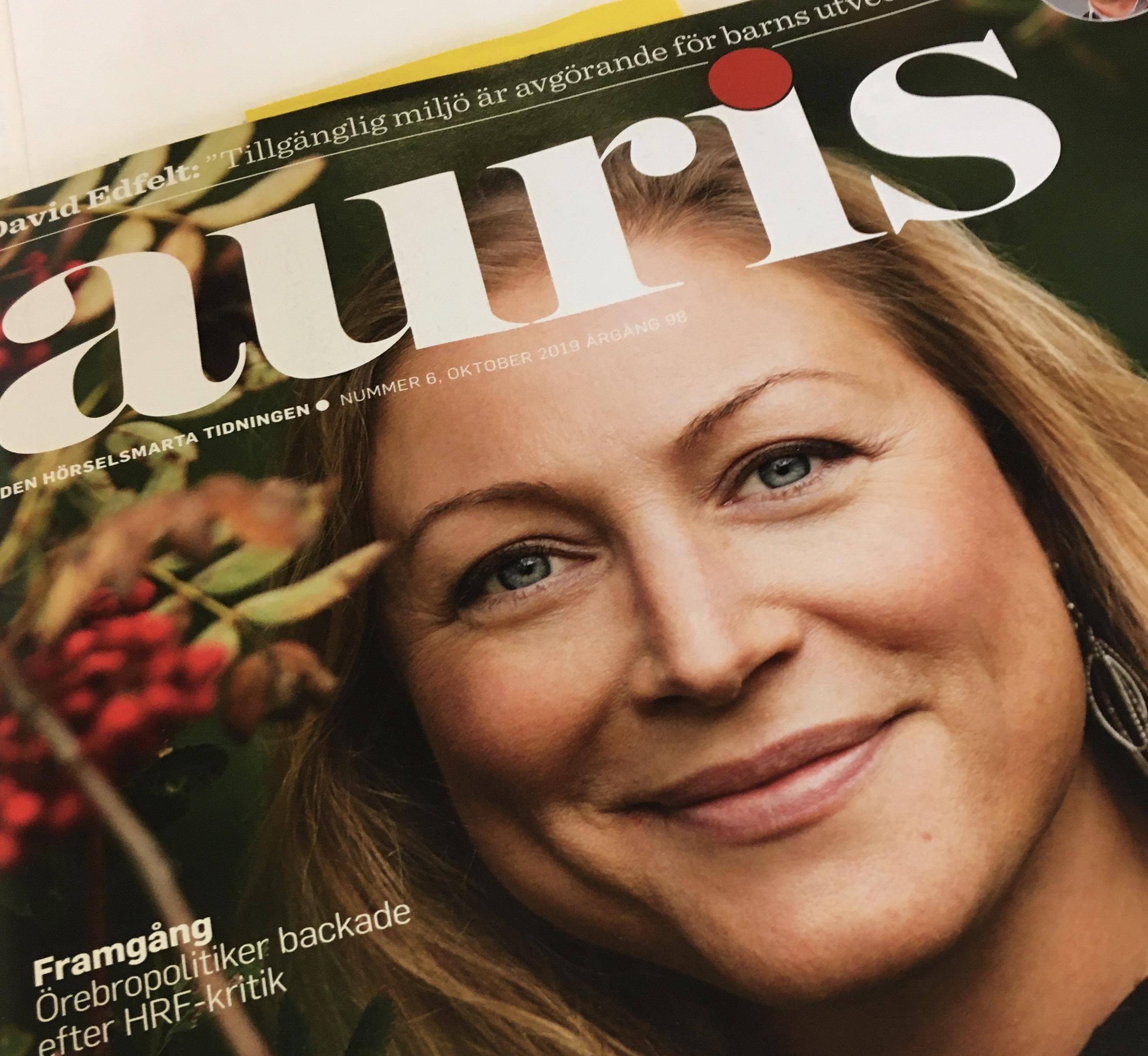 Omslag tidningen Auris nr 6 2019